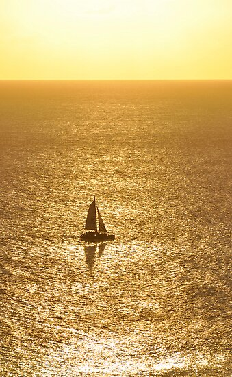 Sail on Golden Waters by Cheryl  Lunde