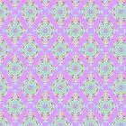 Vintage Moroccan Pattern in Lavender by Heaven7