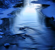 Icy winter blue river by jekuratodistaja