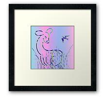 Bambi and Bird Framed Print