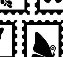Butterfly stamps Sticker