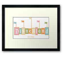 Disneyland California Logo  Framed Print