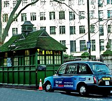 London Cab and Hut by Catherine Hamilton-Veal  ©