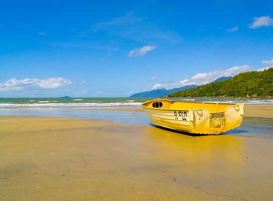 Boat on the sand - Yarrabah - Queensland - Australia by Paul Davis