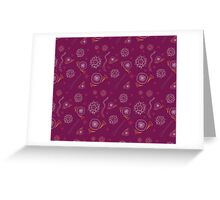 Dream in purple Greeting Card
