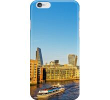 Thames Riverscape, London England iPhone Case/Skin