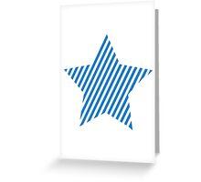 Blue star stripes Greeting Card