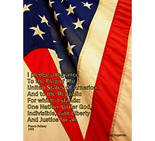 Pledge Of Allegiance Photographic Print