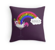 Forever Young Adult Official Tee Throw Pillow
