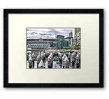 Pointing To Etihad Framed Print