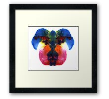 Dog head splat Framed Print