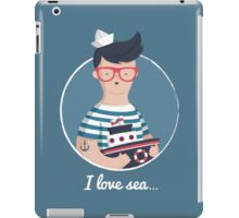 I love sea iPad Case/Skin