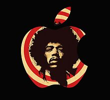 apple jimi hendrix by ghostship