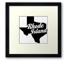 Texas Island Framed Print