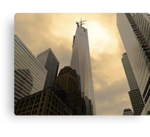 From the ground to the sky WTC Canvas Print