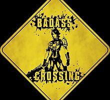 Athena Badass Crossing (Worn Sign) by WondraBox