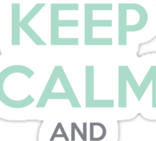 Keep Calm and Carry On Simon—Multi-Color Text Sticker