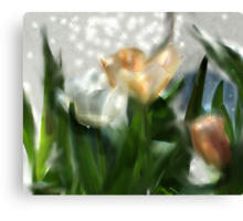 STARRY TULIPS Canvas Print