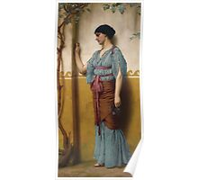 John William Godward, R.B.A. BRITISH 1861-1922 The trysting place Poster