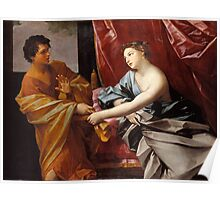 Joseph and Potiphar's Wife c.1630. - Guido Reni Poster