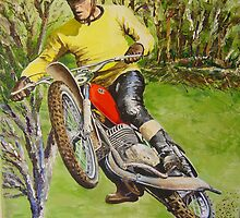 Joel Robert 6 time World Motocross Champion Commission by robkinseyart
