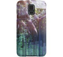 lavender fence sitting Samsung Galaxy Case/Skin