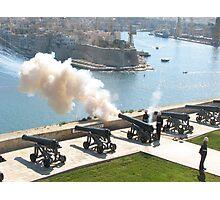 Cannon Firing - Grand Harbour, Valletta  Photographic Print