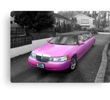 pink limo ... Metal Print