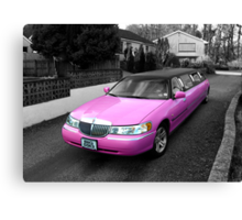 pink limo ... Canvas Print