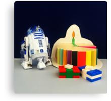 R2-D2 Birthday Canvas Print