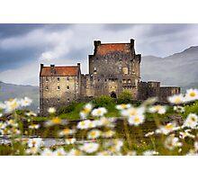 Eilean Donan Castle and Summer Flowers, Dornie, SCOTLAND. Photographic Print