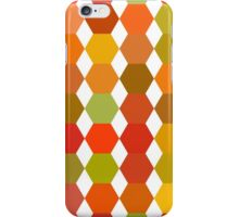 seamless pattern of colored hexagons on the white background iPhone Case/Skin