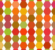 seamless pattern of colored hexagons on the white background by Ann-Julia