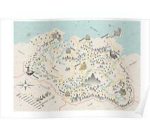 Skyrim Map Poster