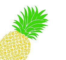 Bright Pineapple Pineapples Traditional Yellow Green  by CanisPicta
