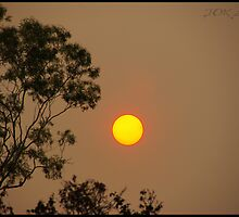 bushfire sun by Joker