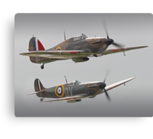 Hurricane And Spitfire Battle Of Britain Canvas Print
