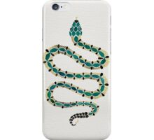 Emerald & Gold Serpent iPhone Case/Skin