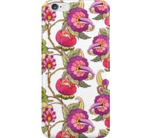 Fantasy garden, watercolor painted flowers iPhone Case/Skin
