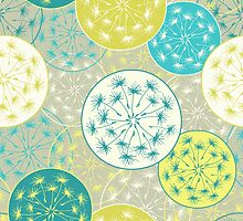 Pattern with decorative dandelion by olgart