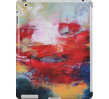 Abstract Red Blue Print from Original Painting  iPad Case/Skin