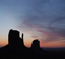 Day Break over Monument Valley by Barbara Burkhardt