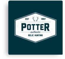 Potter Authentic Relic Hunting Canvas Print
