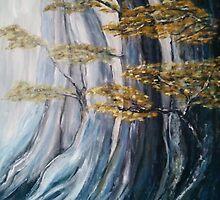 Trees in the Mist by Moira Du Toit