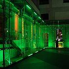 Berlin night scene - Sony center, green  lighting by ShotByArlo