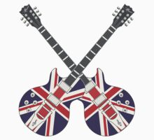 British Mod Union Jack Guitars by SonicContours