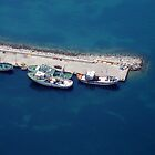Fishing Boats, aerial view by airphoto-gr