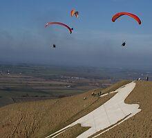 Westbury White Horse Paraglider by Jackie O.
