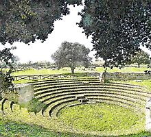 Paestum: archaeological site theater by Giuseppe Cocco