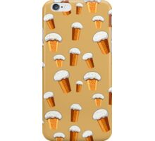 seamless pattern with Easter cake on a beige background iPhone Case/Skin